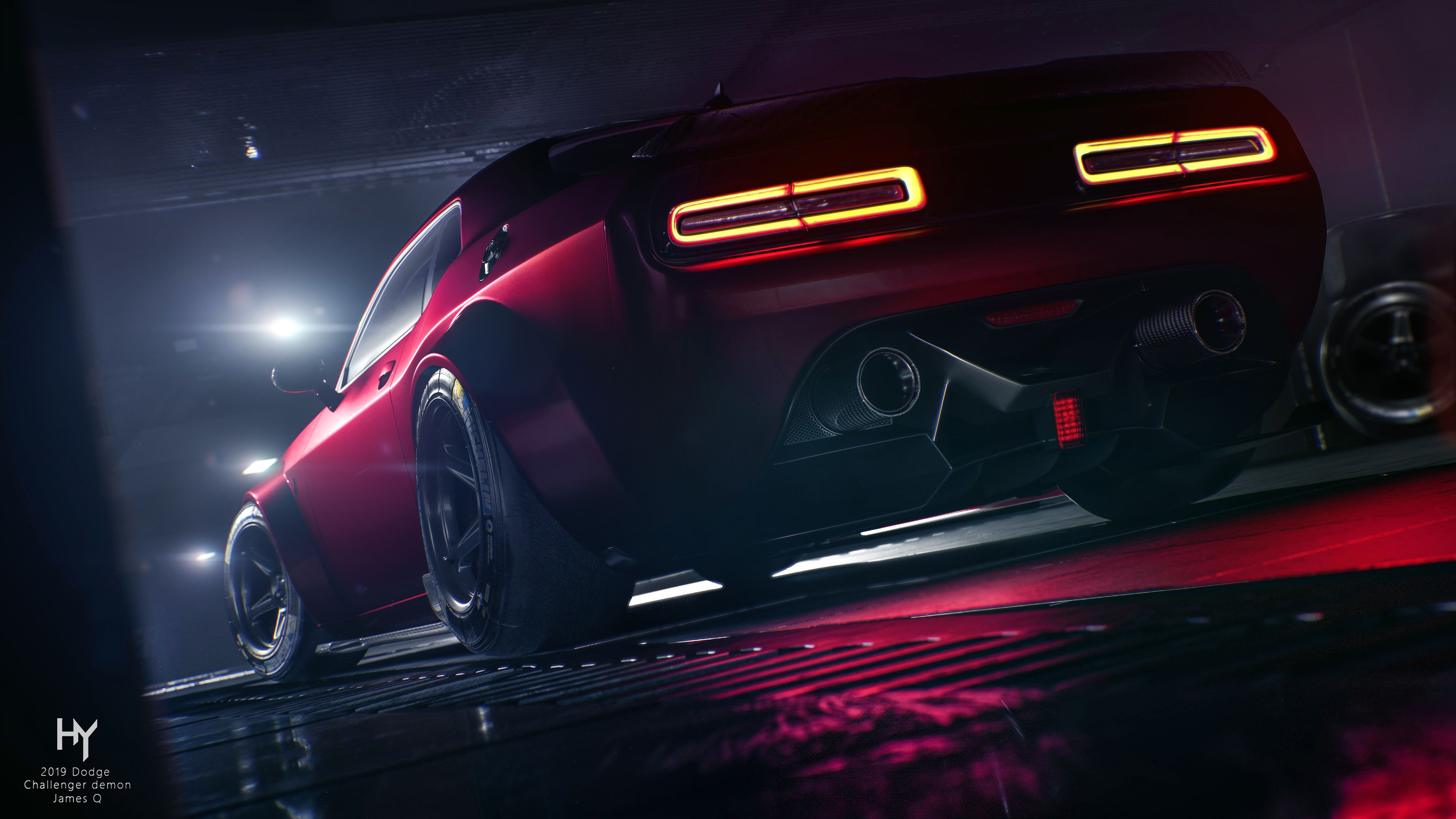Red Wallpaper Dodge Demon