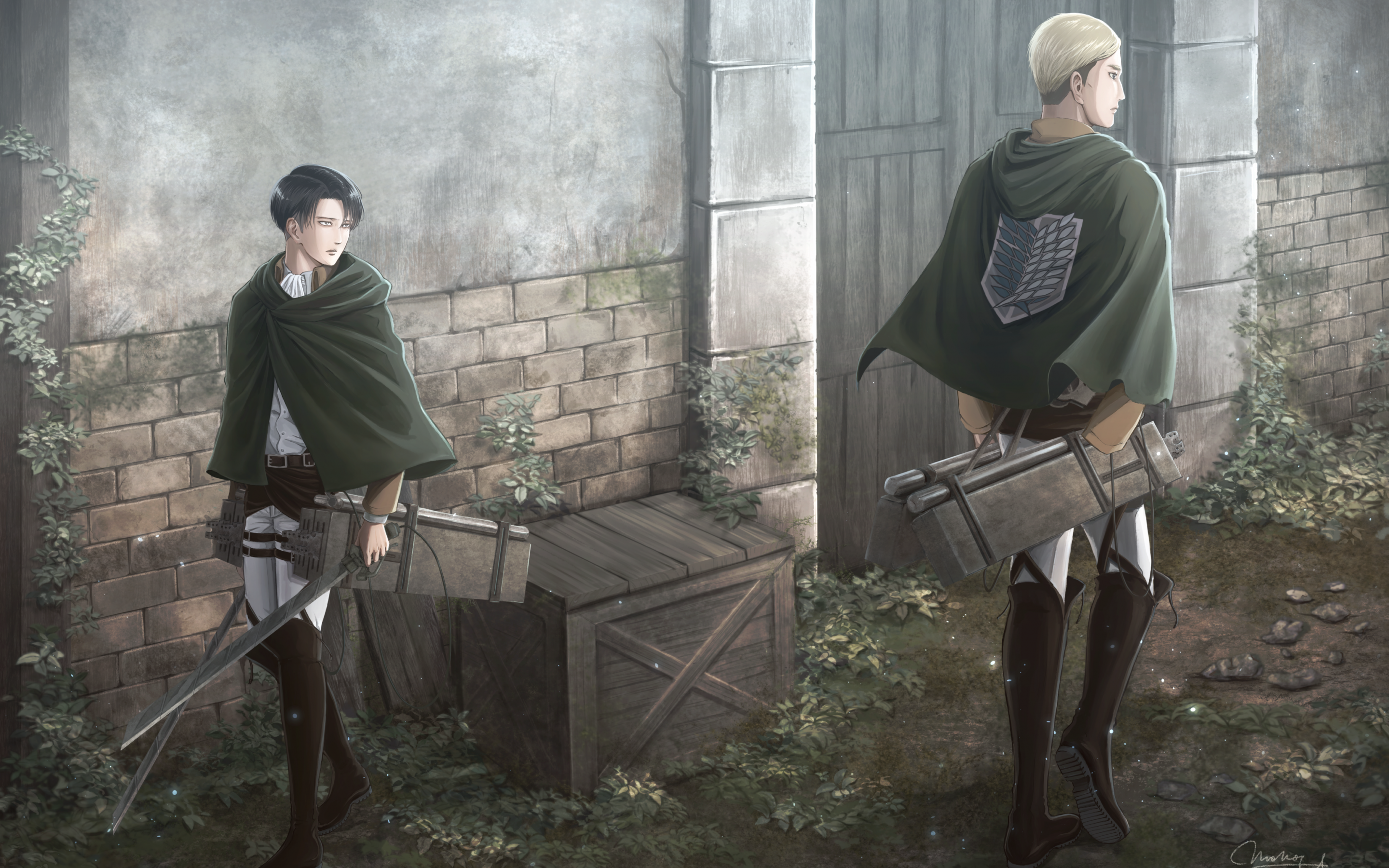 Erwin Attack On Titan Wallpapers Top Free Erwin Attack On Titan Backgrounds Wallpaperaccess