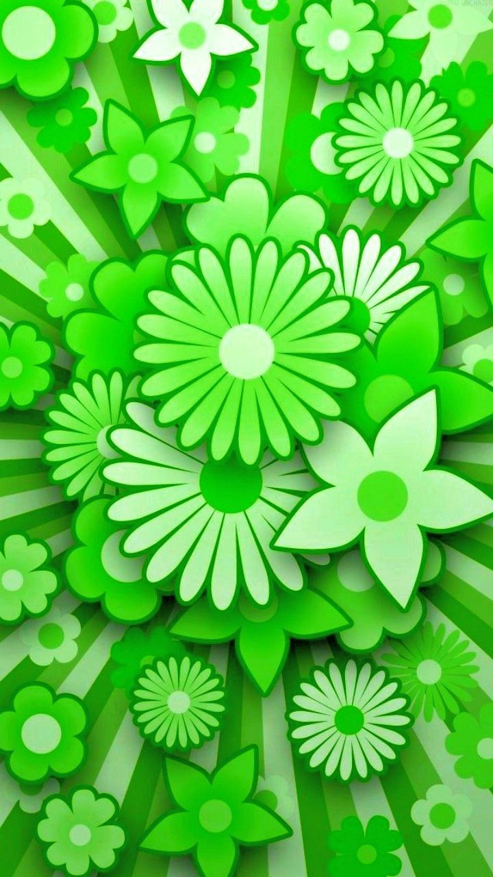 Cute Floral Green Wallpapers Top Free Cute Floral Green