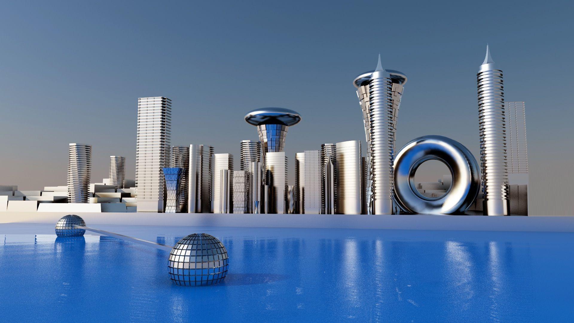 Future City 3D Art Wallpapers - Top Free Future City 3D Art