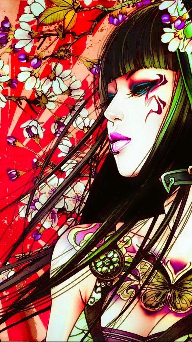 Geisha Iphone Wallpapers Top Free Geisha Iphone Backgrounds