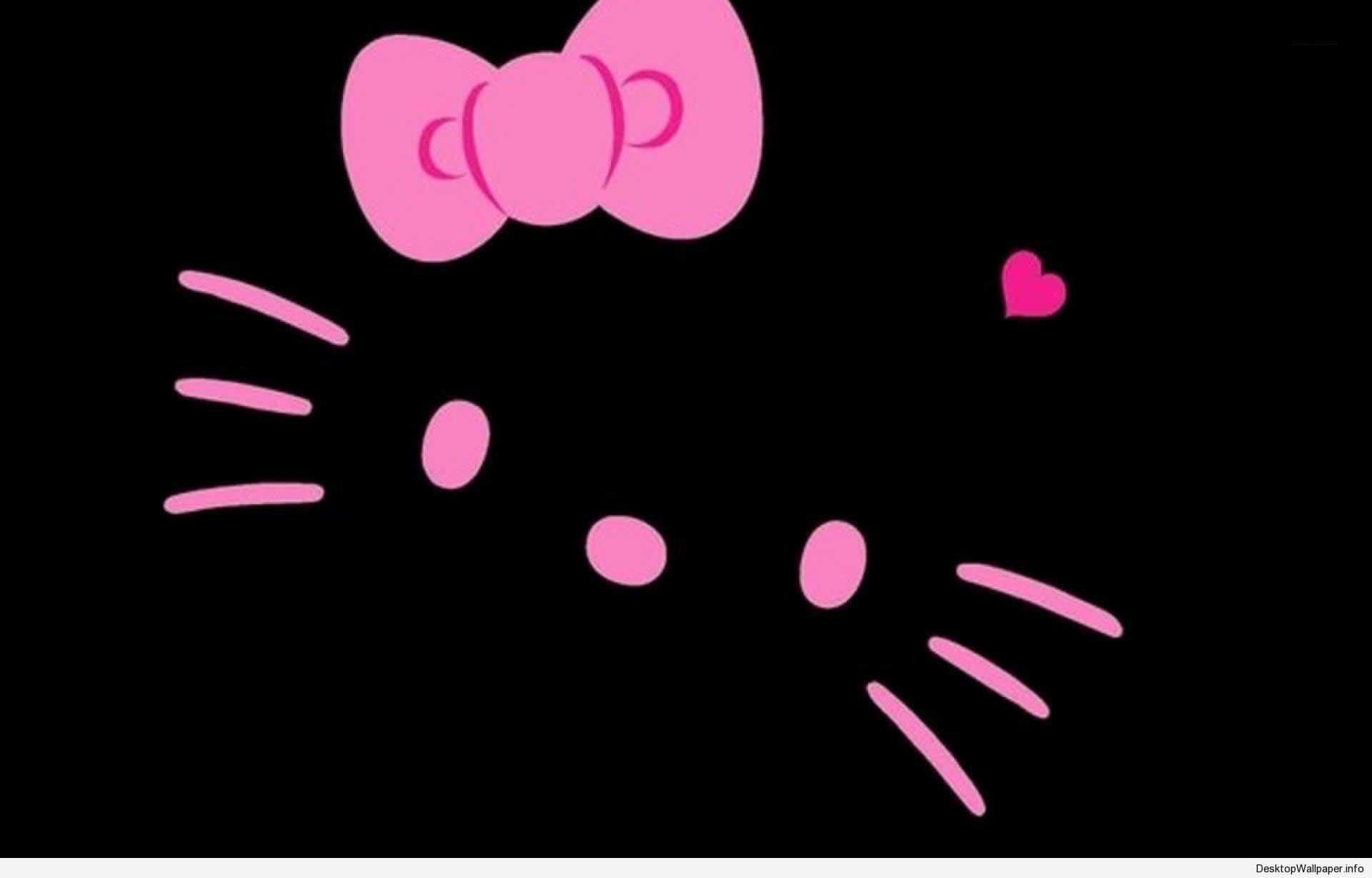35+ Trends For Black Desktop Background Hello Kitty Wallpaper