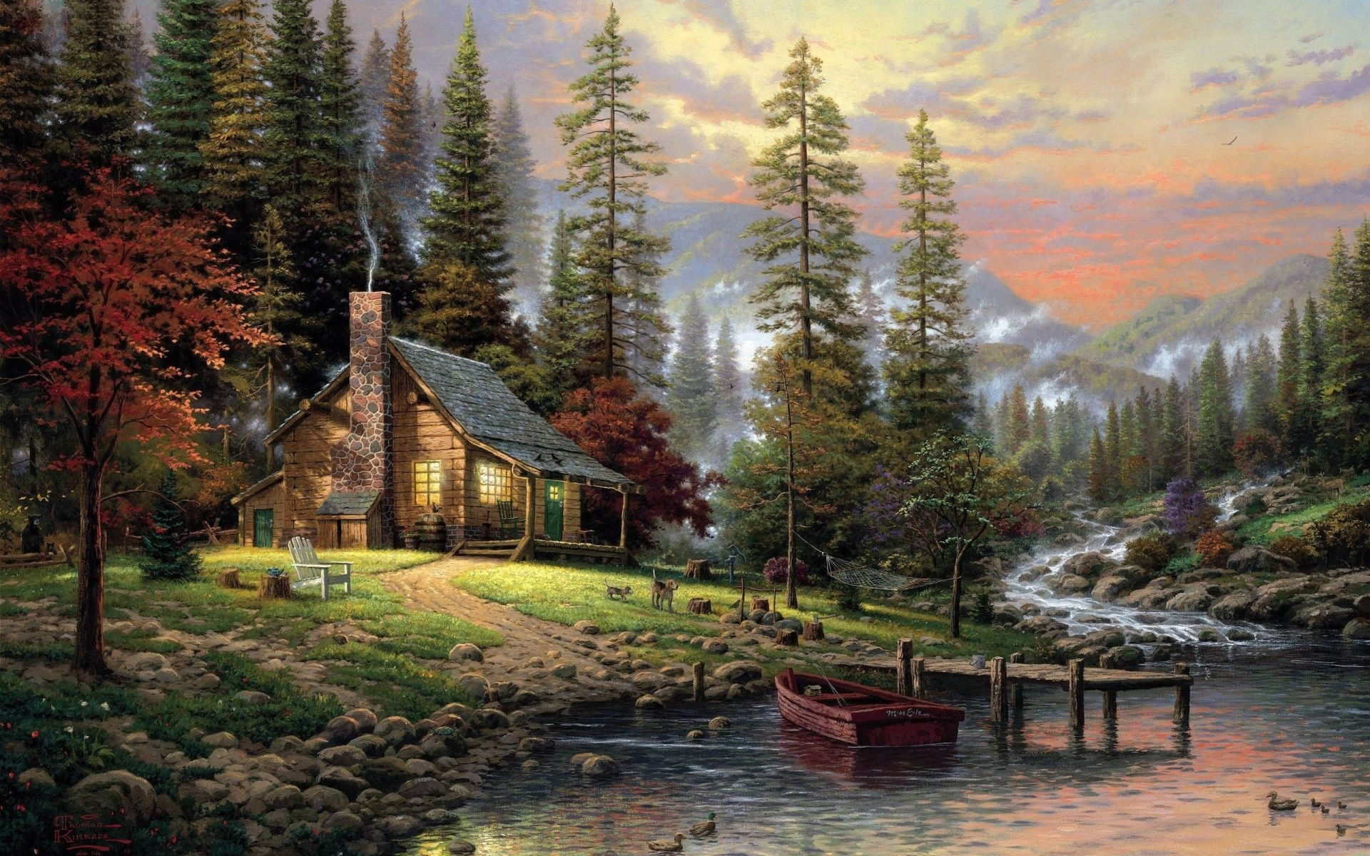 Fall Mountain Cabin Wallpapers Top Free Fall Mountain Cabin Backgrounds Wallpaperaccess