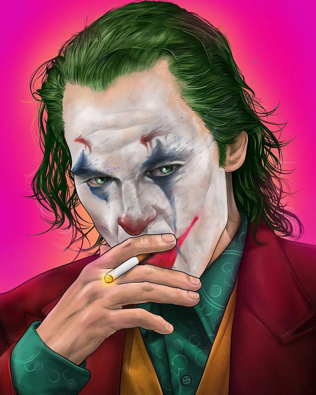 Joker Smoking 2019 Wallpaper