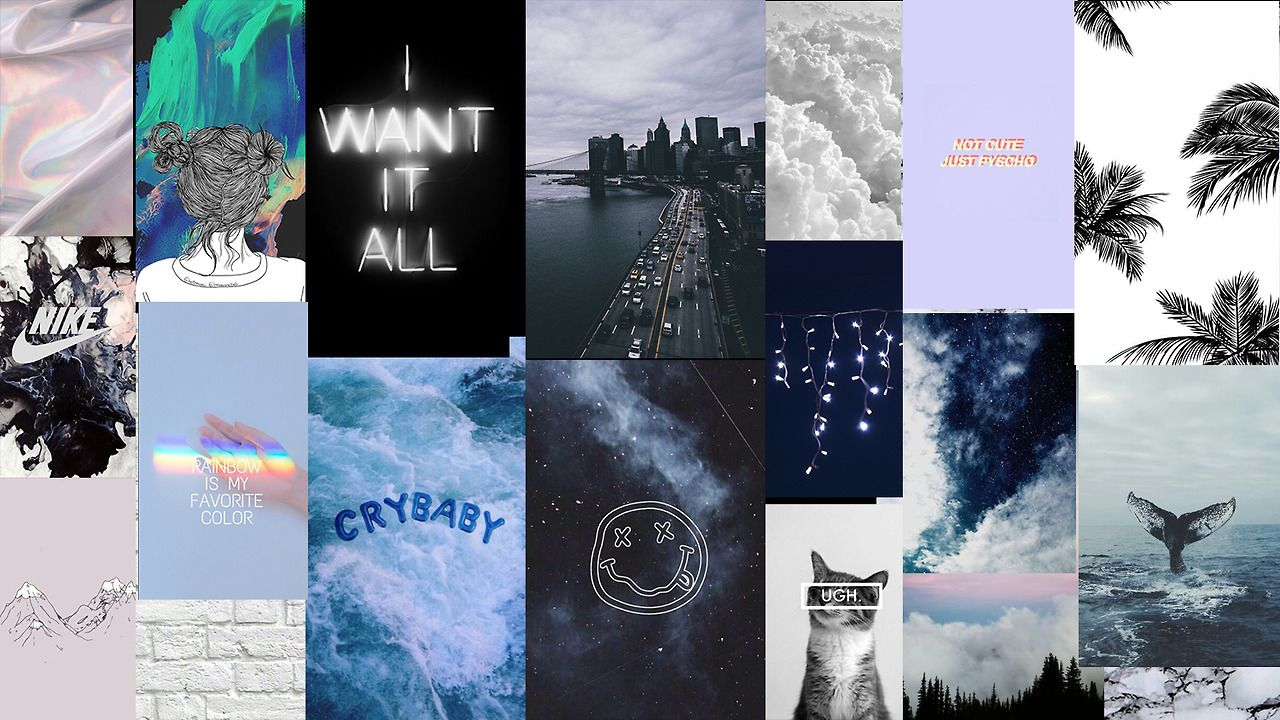 Blue Aesthetic Tumblr Laptop Wallpapers Top Free Blue Aesthetic