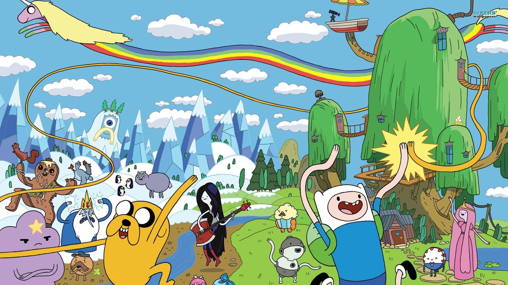 Adventure Time Landscape Wallpapers Top Free Adventure Time Landscape Backgrounds Wallpaperaccess