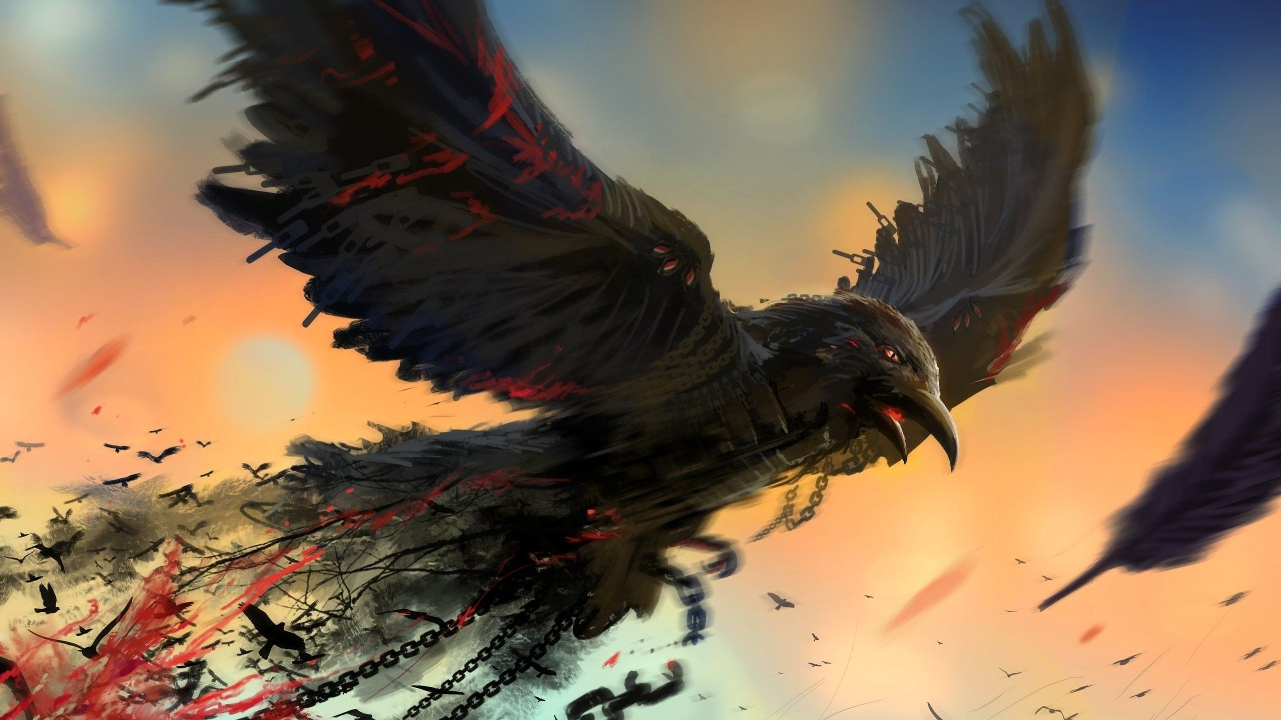 Crow Art Wallpapers Top Free Crow Art Backgrounds Wallpaperaccess