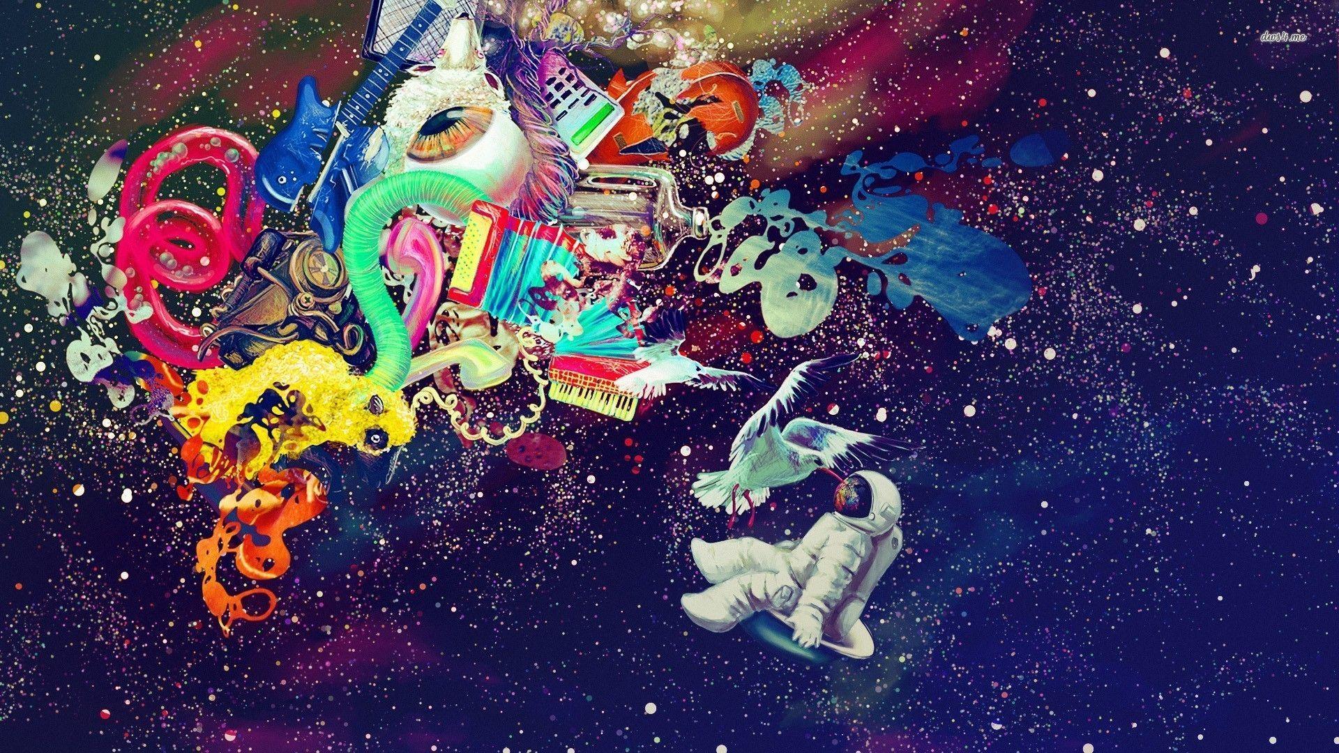 Astronaut Galaxy Wallpapers