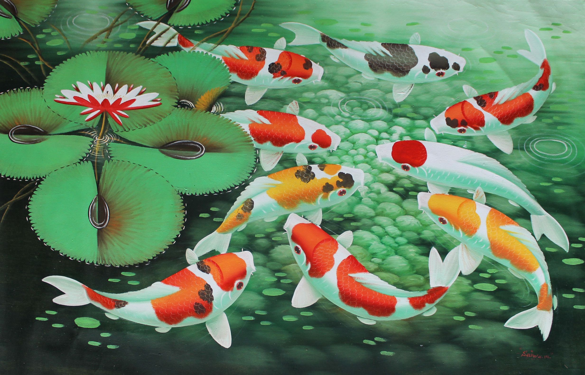 Koi Painting Wallpapers Top Free Koi Painting Backgrounds