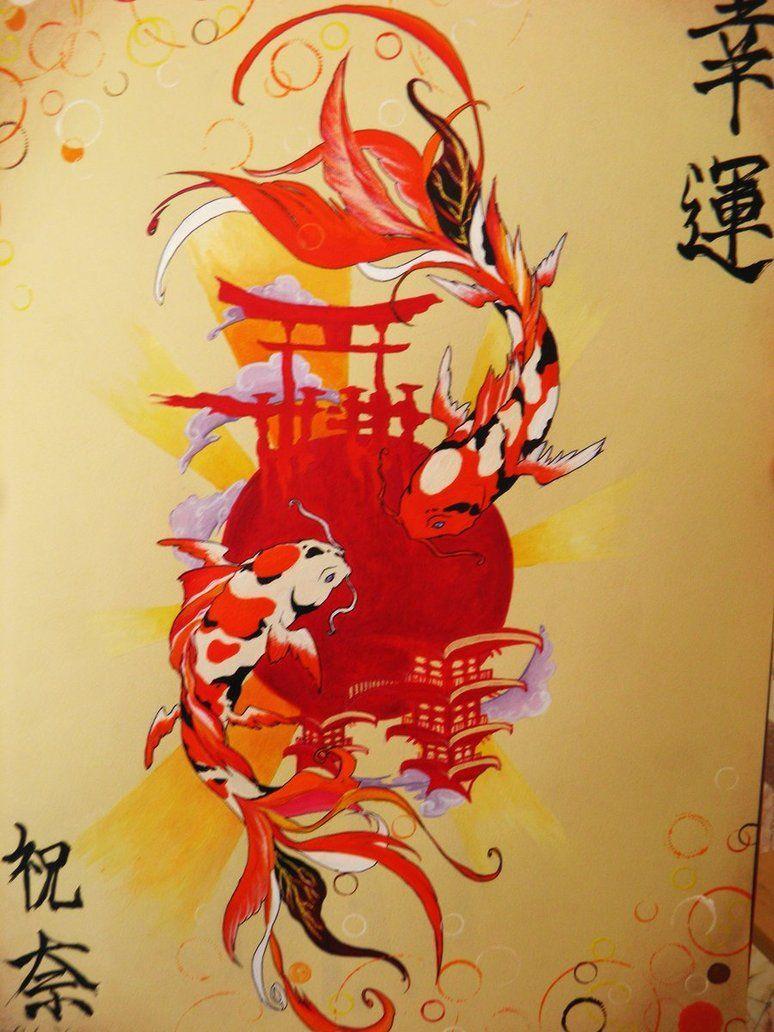 Japanese Koi Fish Art Wallpapers Top Free Japanese Koi