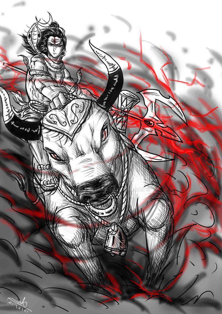 752x1063 Chúa Shiva Vẽ Hình ảnh HD đầy màu sắc Thần Hindu Siva - Chúa