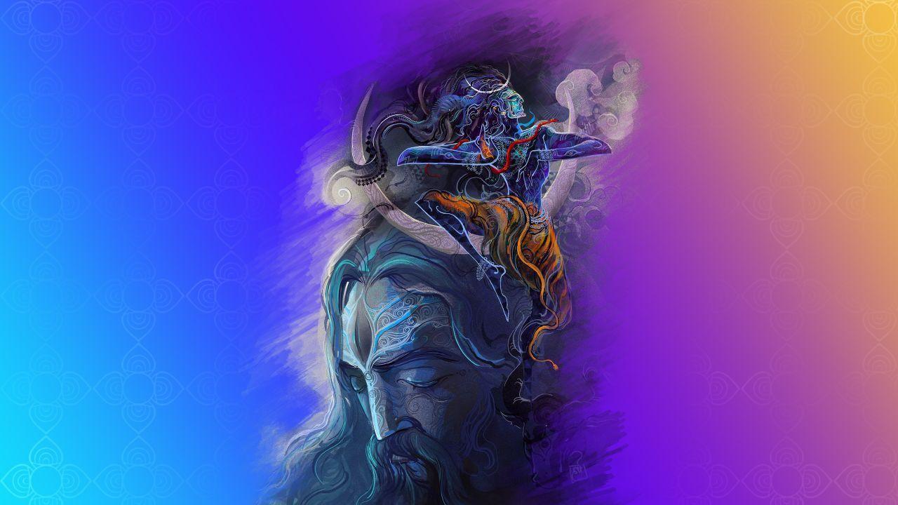 1280x720 Hình nền Chúa Shiva, Aghori, độ phân giải cao, Đồ họa sáng tạo