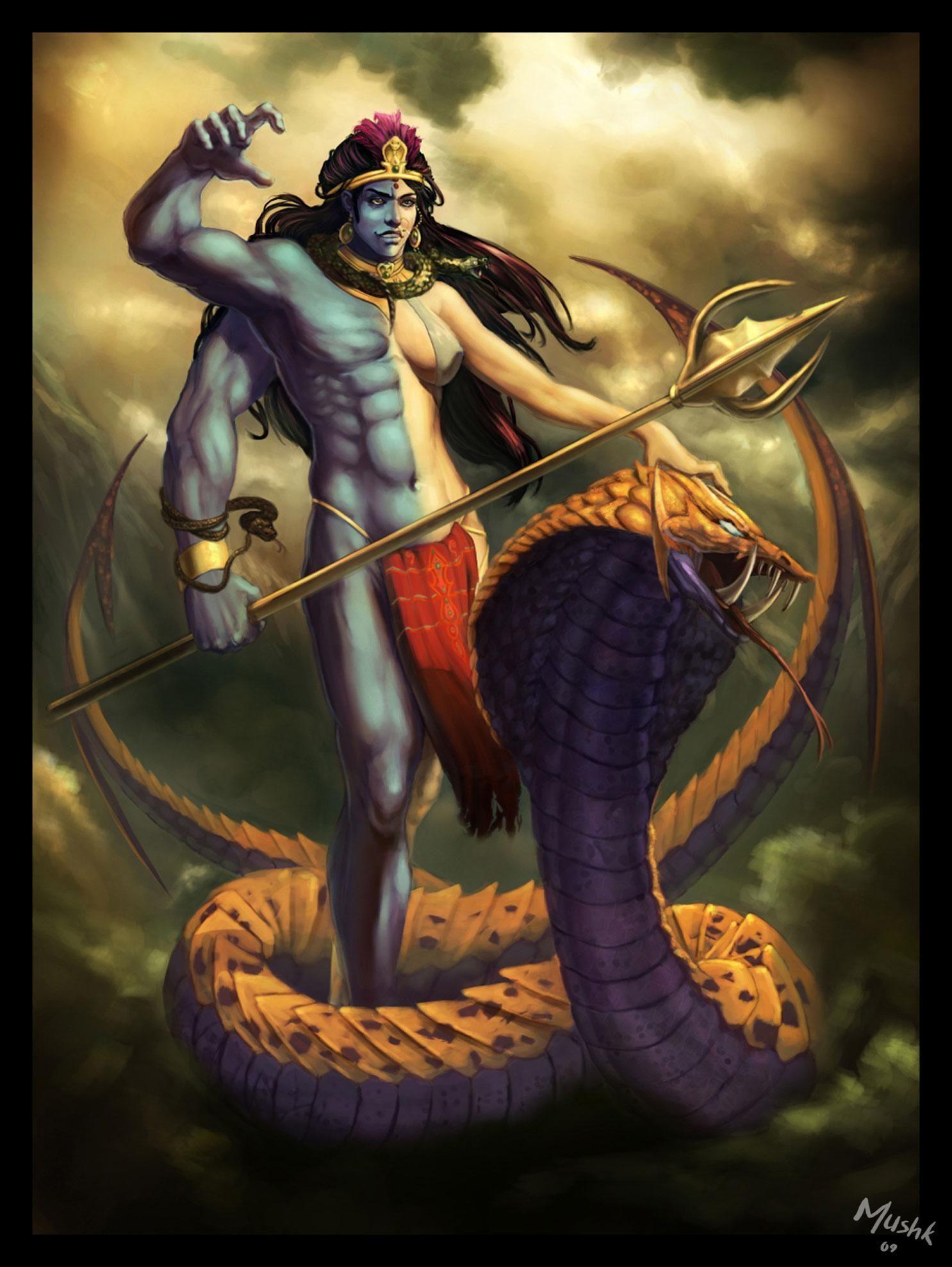 1486x1977 Ardhnari hoặc Ardhnareshvar.Shiva nửa nam nửa nữ