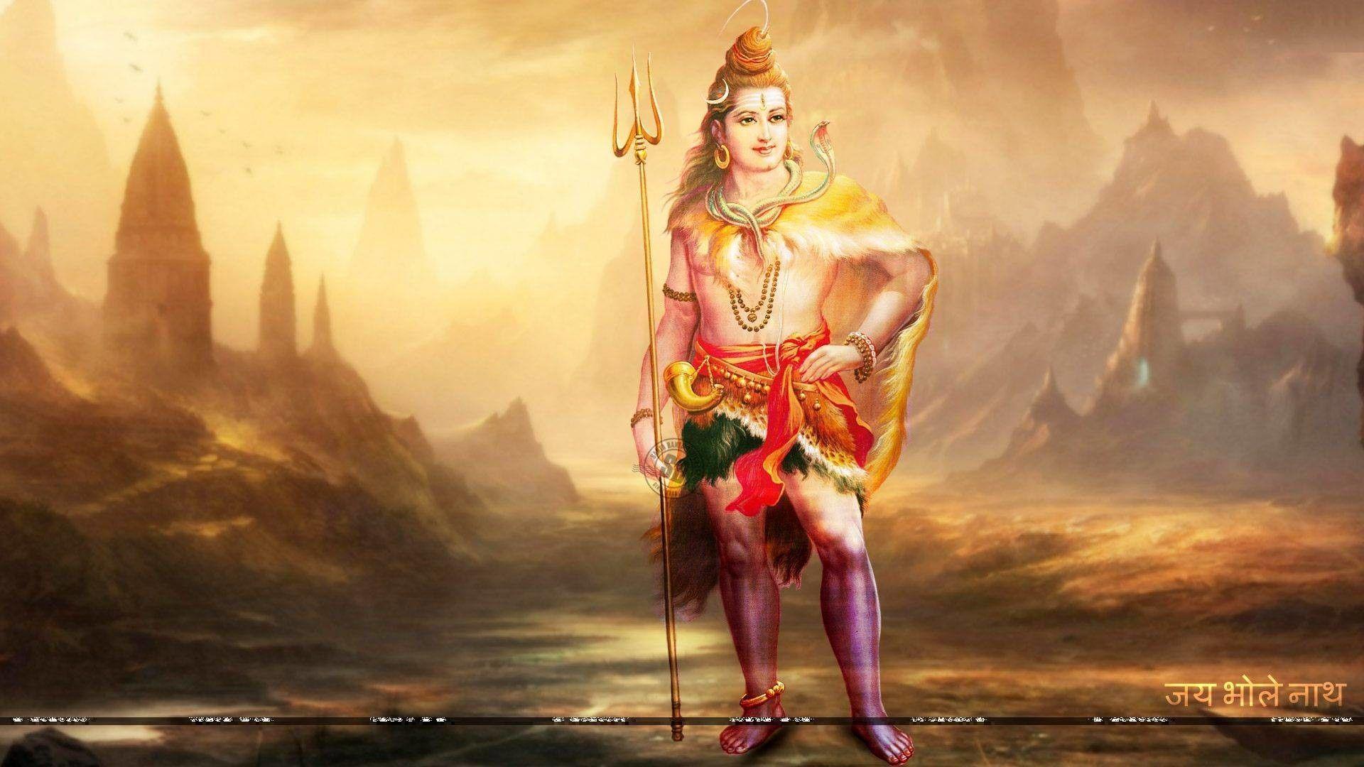 Độ phân giải cao 1920x1080 Lord Shiva Wallpaper