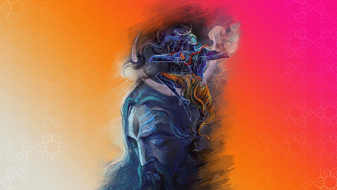 1280x720 Hình nền Chúa Shiva, Aghori, Thần Ấn Độ, độ phân giải cao, Sáng tạo