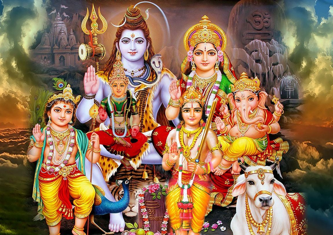Lord Shiva Family Wallpapers Top Free Lord Shiva Family Backgrounds Wallpaperaccess