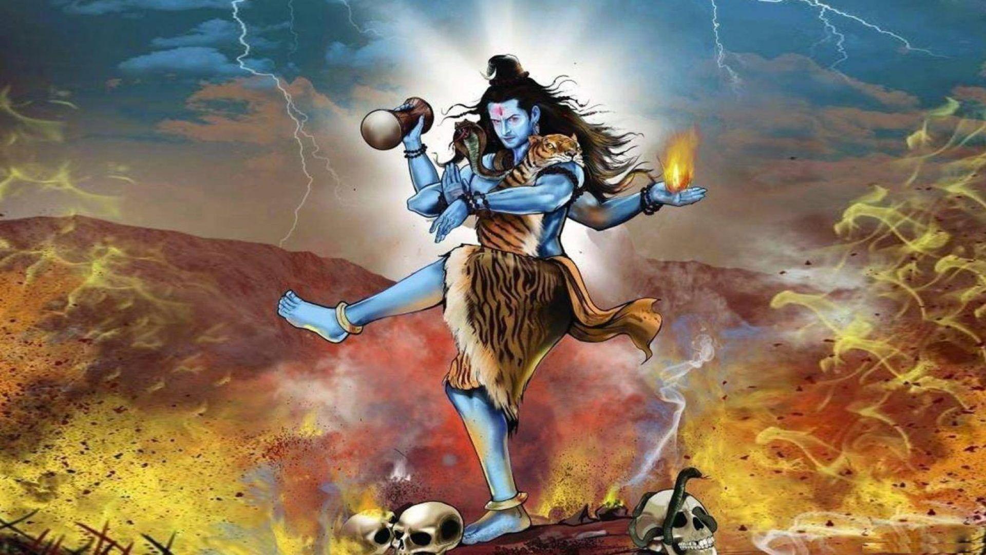 1920x1080 Hình ảnh nổi giận của Chúa Shiva.  Các vị thần và nữ thần của đạo Hindu