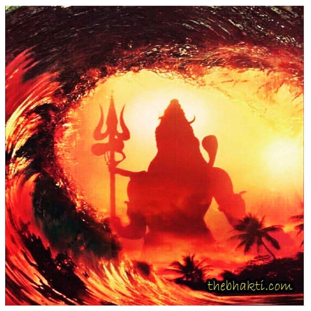 1024x1024 Rudra Avatar Of Lord Shiva hình nền