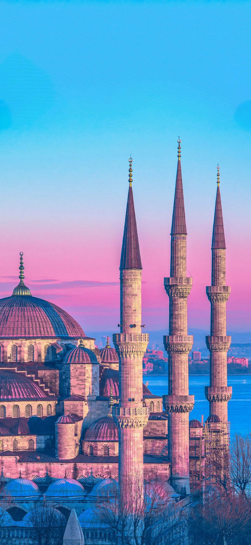 Hình nền Hồi giáo HD 1080x2340 Thổ Nhĩ Kỳ Masjid