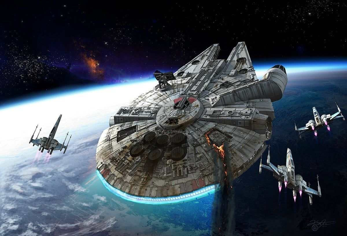Star Wars Millennium Falcon Wallpapers Top Free Star Wars Millennium Falcon Backgrounds Wallpaperaccess