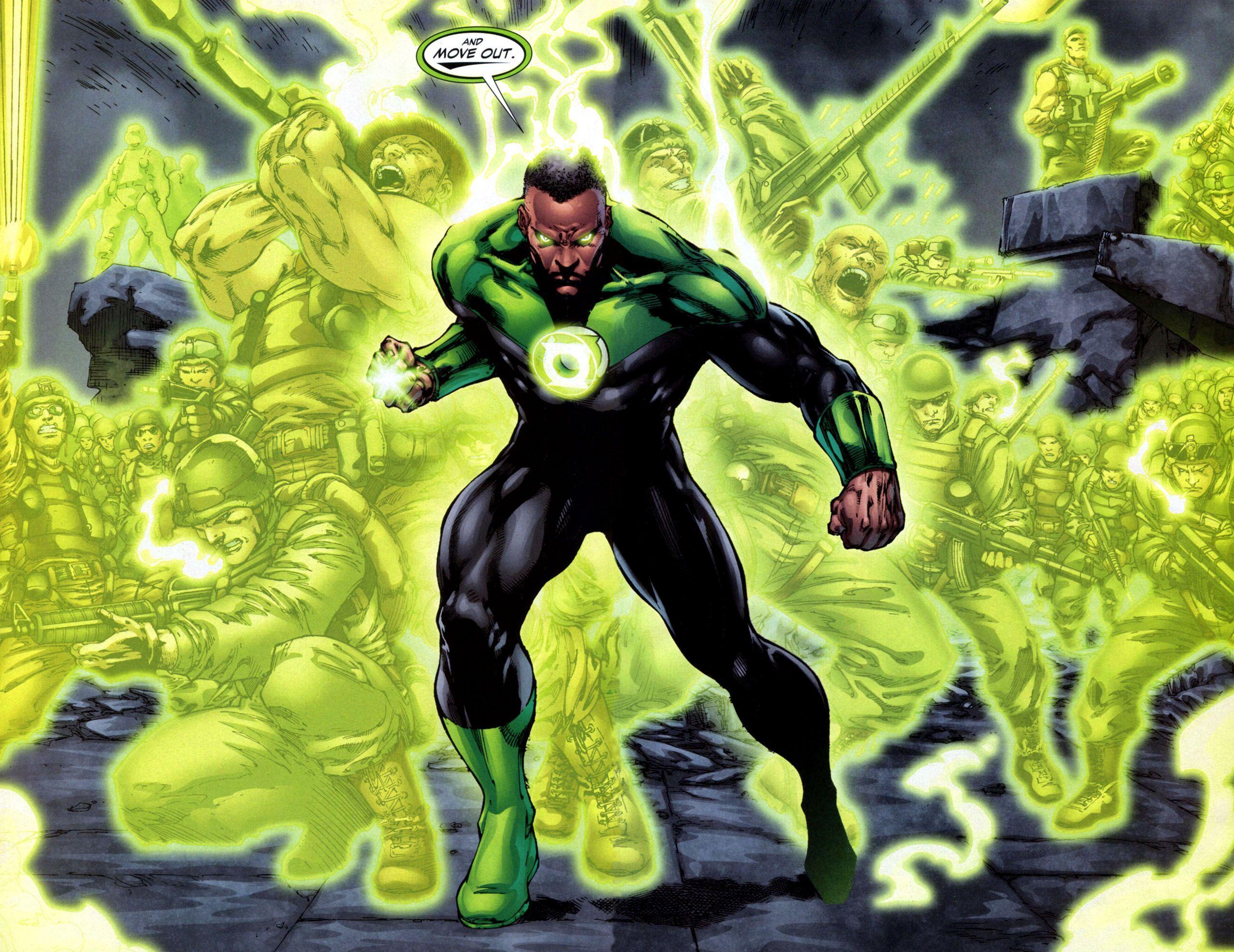 John Stewart Green Lantern Wallpapers Top Free John Stewart Green Lantern Backgrounds Wallpaperaccess
