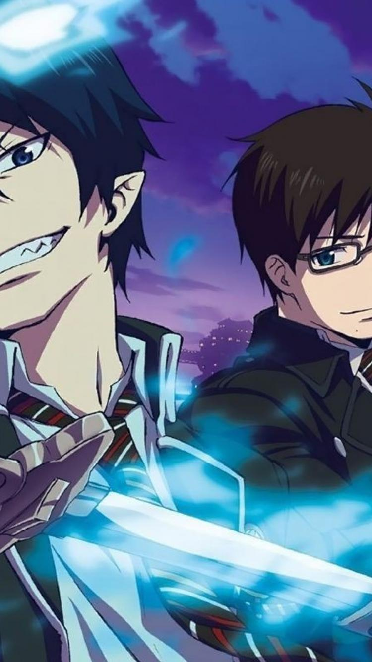 Ao no exorcist iphone wallpapers top free ao no exorcist - Rin wallpaper ...