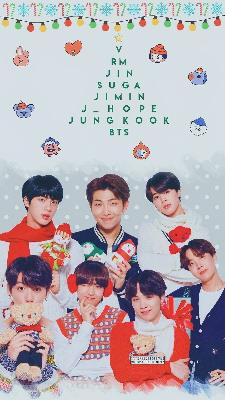 Bts Christmas Wallpapers Top Free Bts Christmas Backgrounds Wallpaperaccess