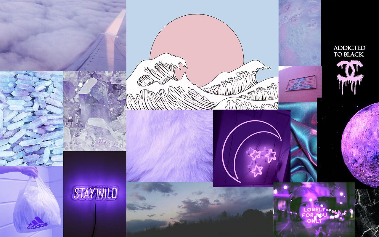 Purple Aesthetic Tumblr Laptop Wallpapers Top Free Purple