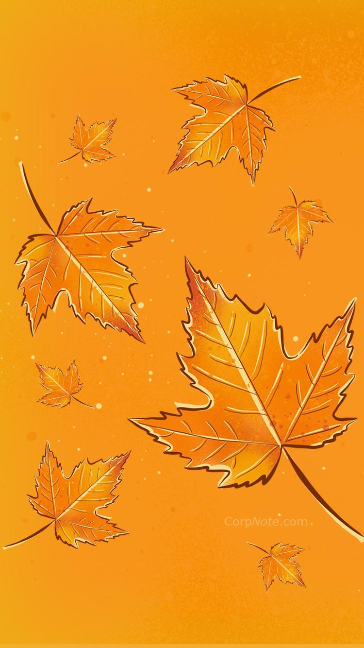 750x1334 Hình nền miễn phí - Lá mùa thu và Lễ tạ ơn