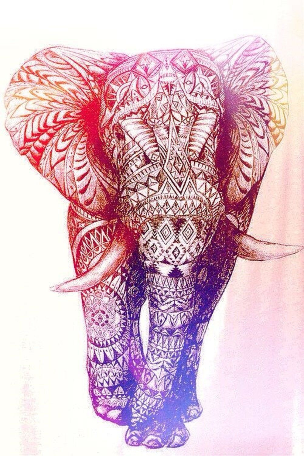 736x1377 Download Colorful Elephant Wallpaper Gallery