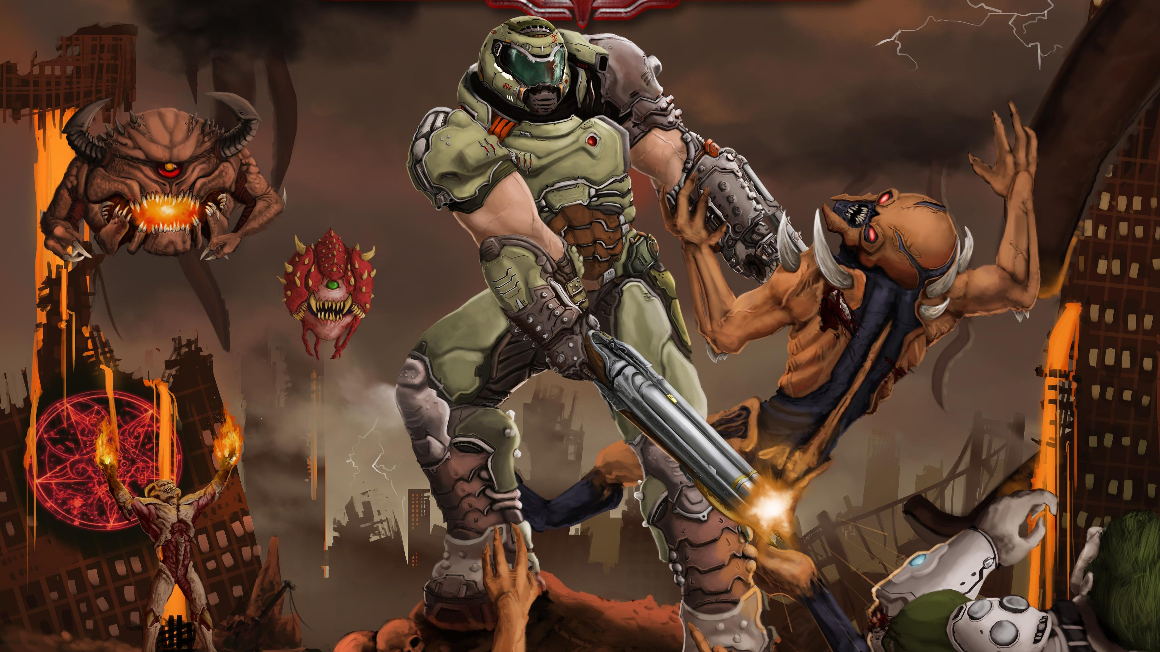 Doom Eternal Wallpapers Top Free Doom Eternal Backgrounds Wallpaperaccess