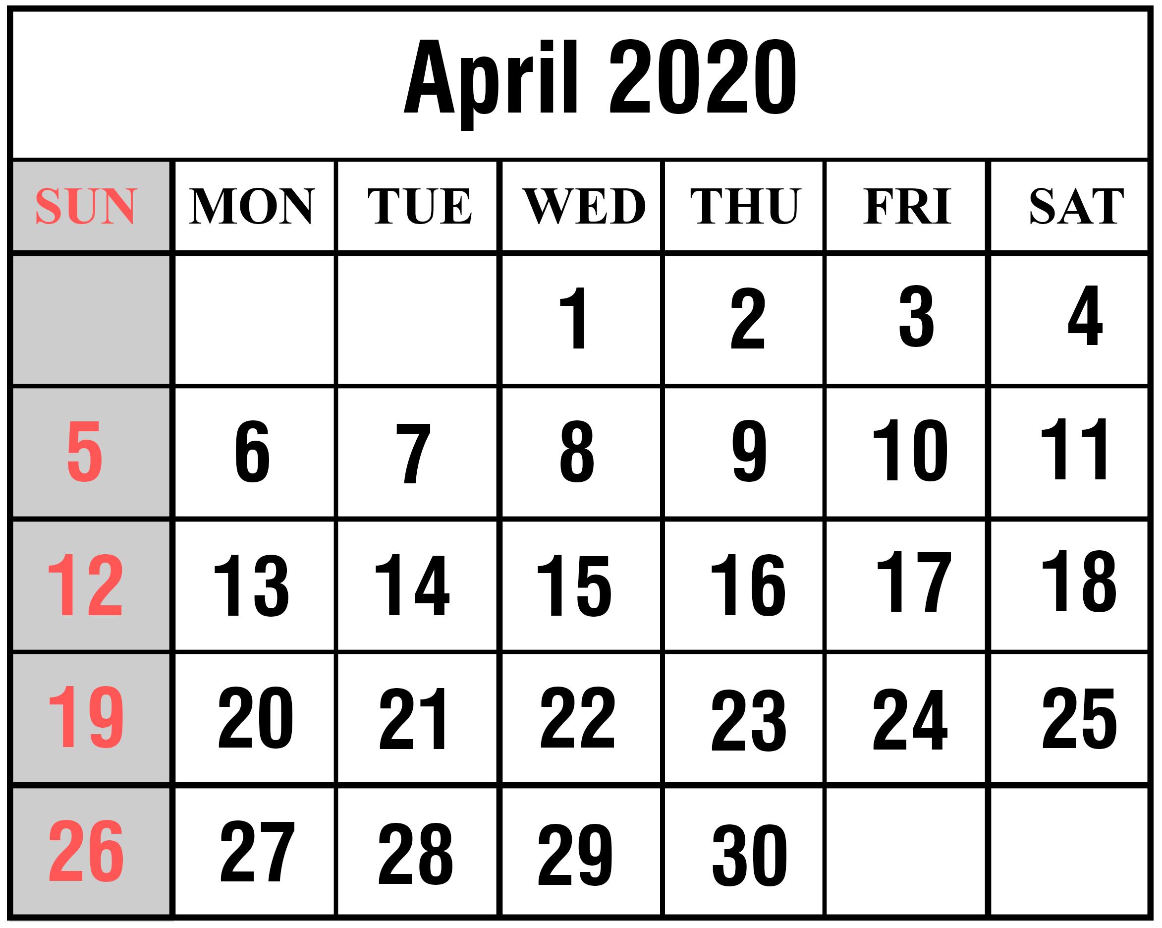 April 2020 Calendar Wallpapers Top Free April 2020 Calendar