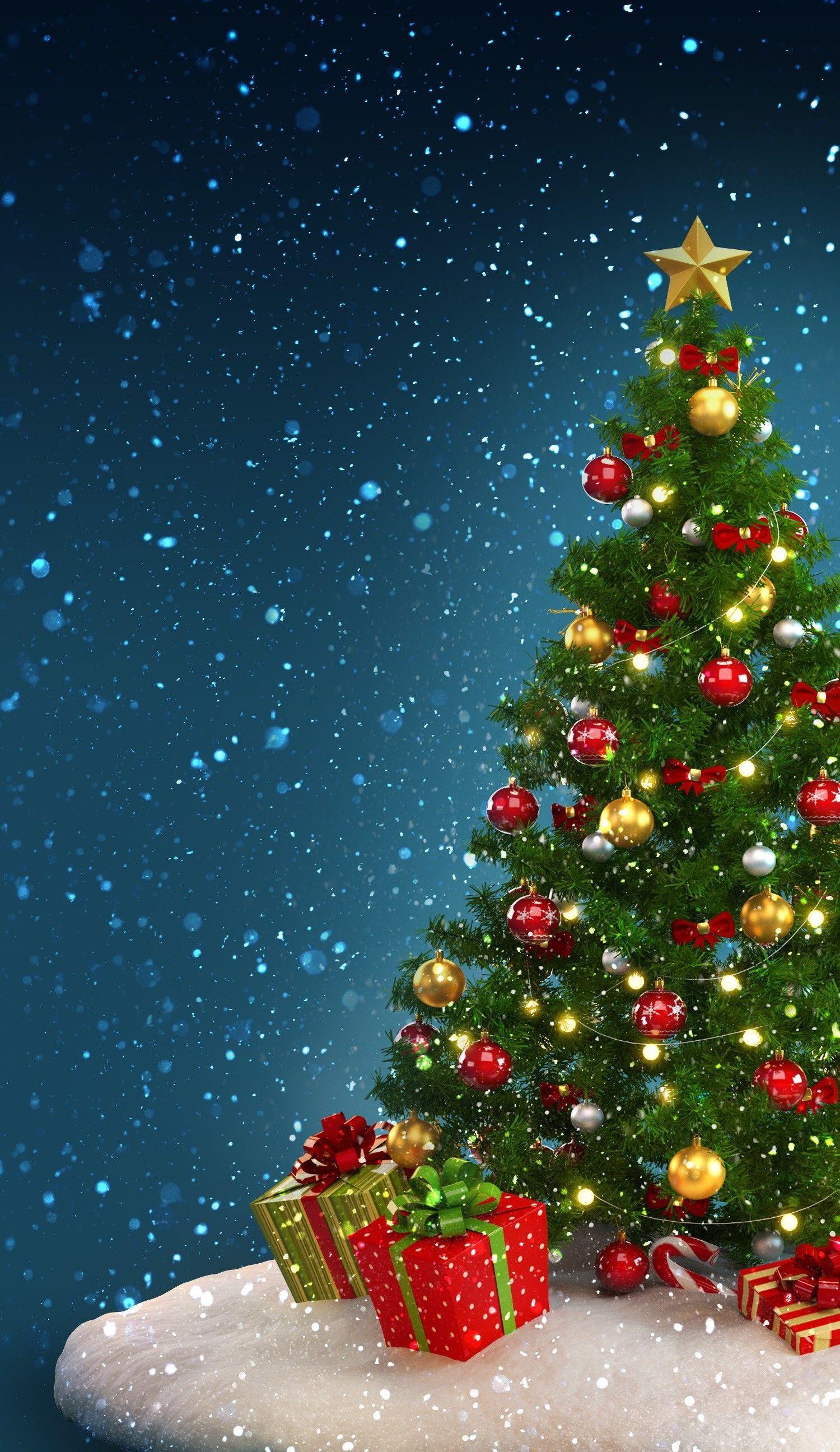 Christmas Tree Phone Wallpapers Top Free Christmas Tree Phone Backgrounds Wallpaperaccess