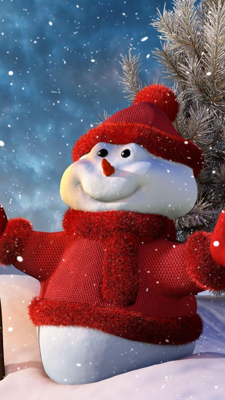 Snowman Christmas Phone Wallpapers Top Free Snowman