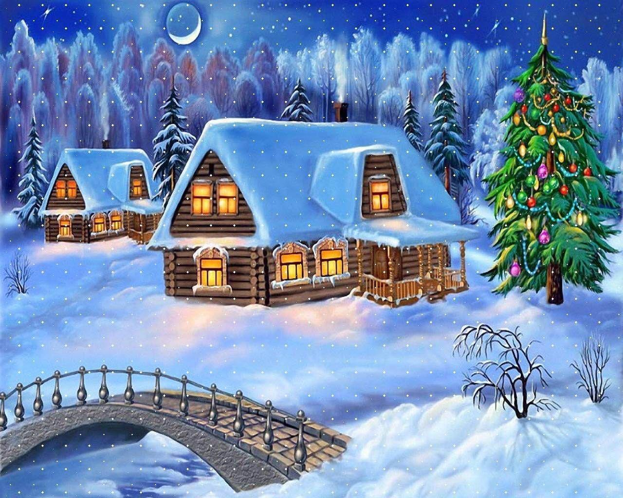 christmas village wallpapers top free