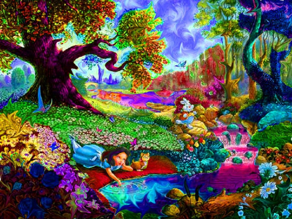 Alice In Wonderland Trippy Wallpapers Top Free Alice In