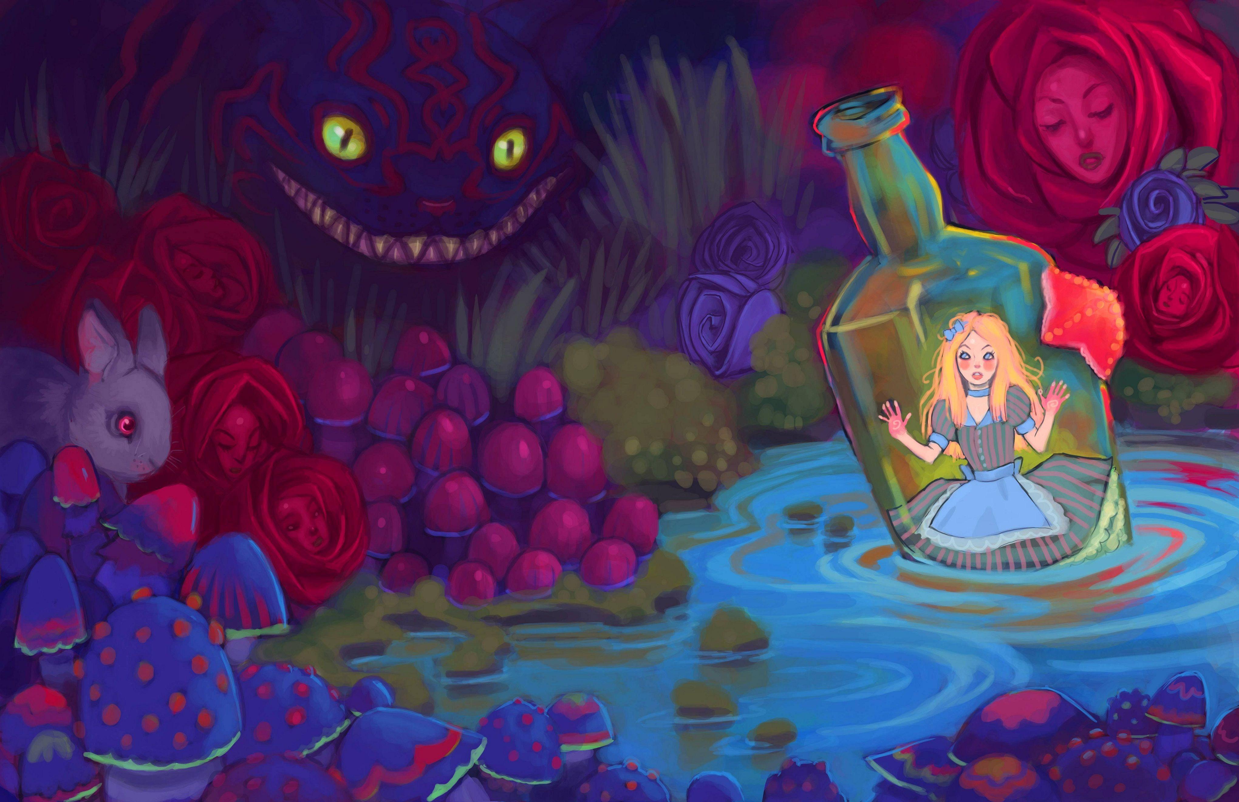 Alice In Wonderland Trippy Wallpapers Top Free Alice In