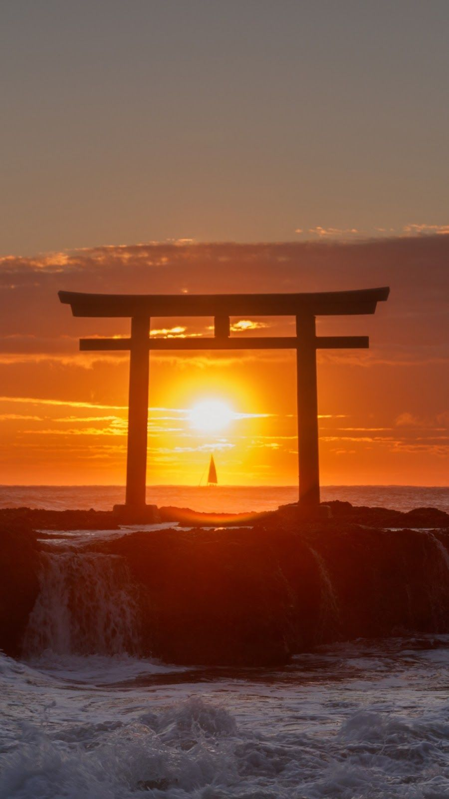 Japan Sunset Wallpapers Top Free Japan Sunset Backgrounds Wallpaperaccess