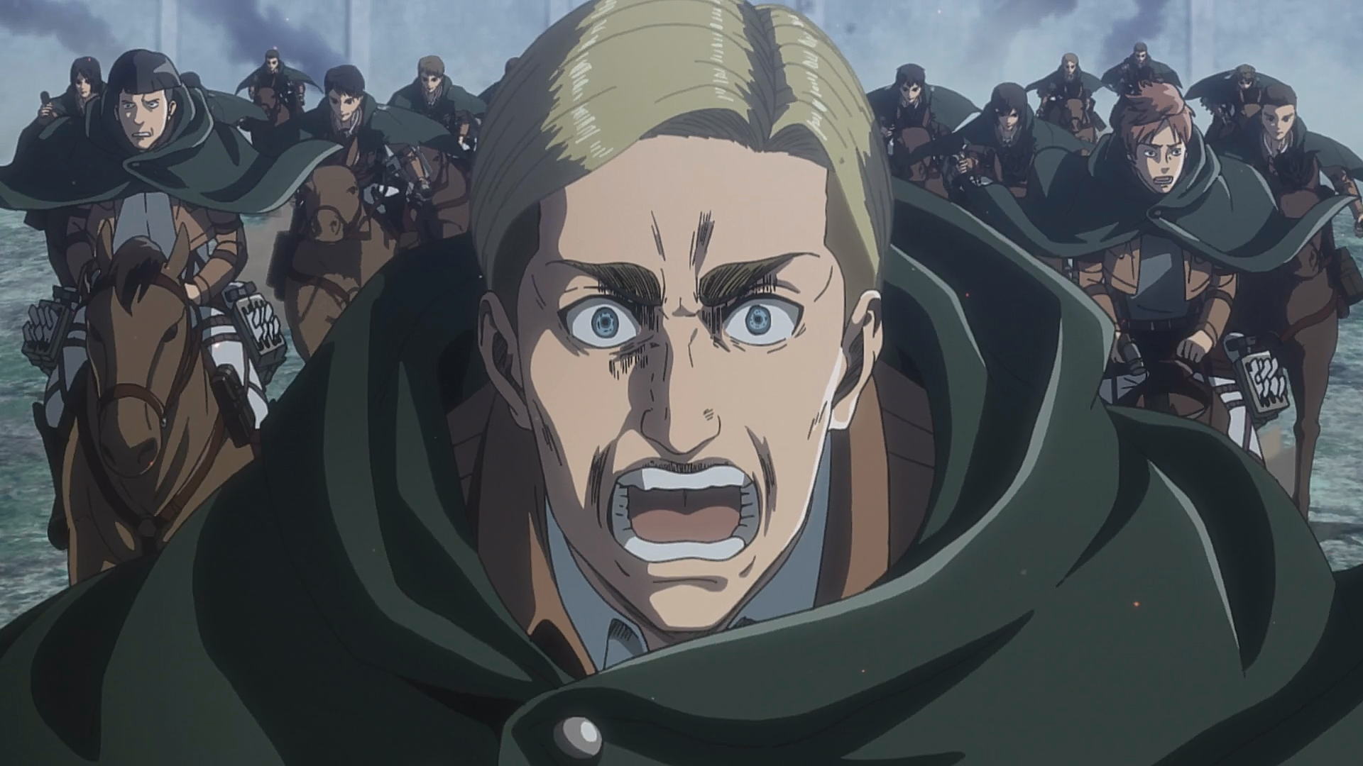 Attack On Titan Erwin Wallpapers Top Free Attack On Titan Erwin Backgrounds Wallpaperaccess