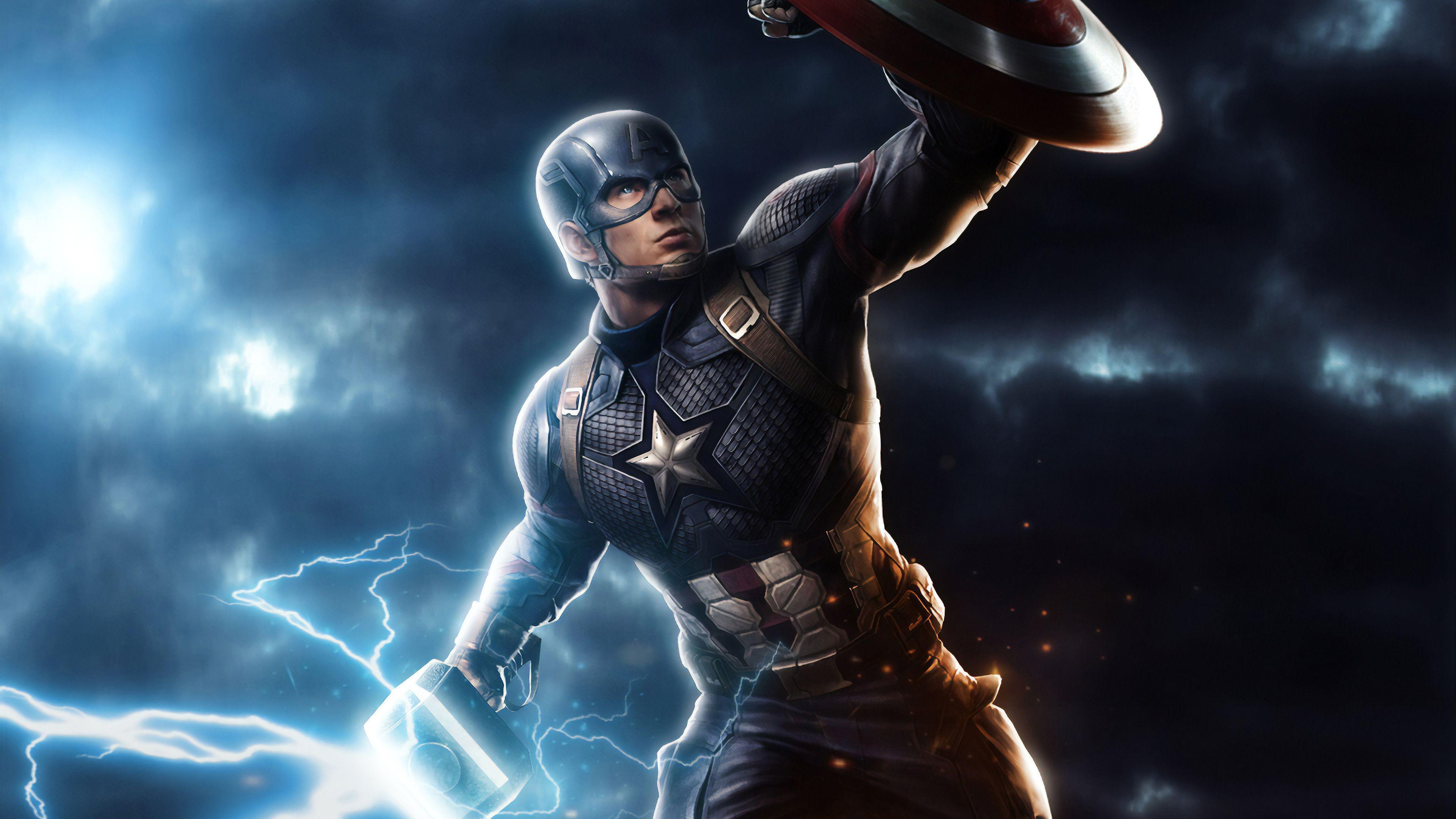 Captain America Mjolnir Wallpapers Top Free Captain America