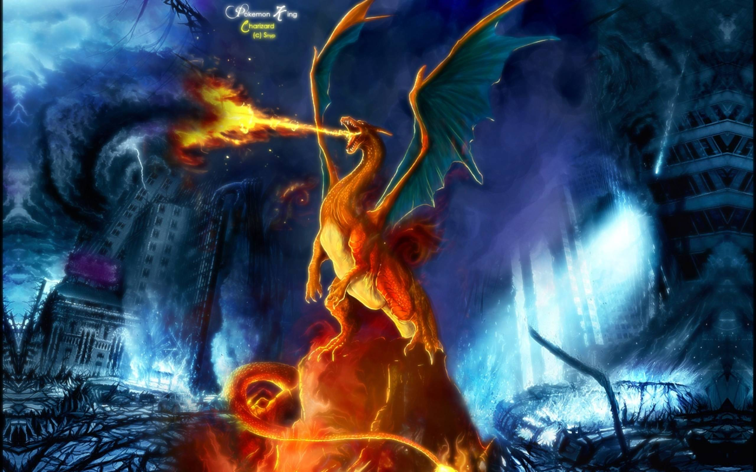 Cool Charizard Wallpapers Top Free Cool Charizard Backgrounds Wallpaperaccess