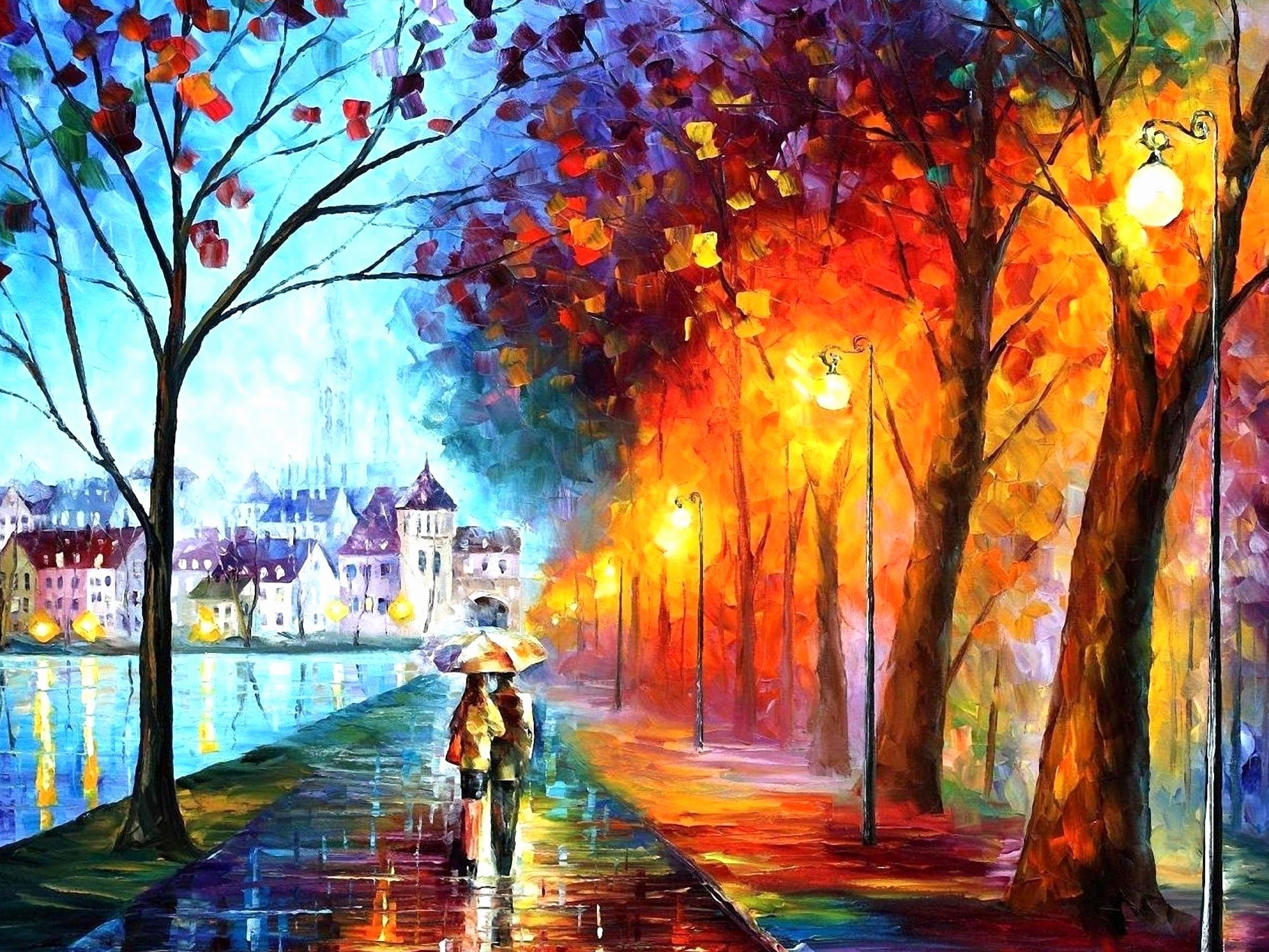 8k Rain Couple Wallpaper: Rain Umbrella Wallpapers