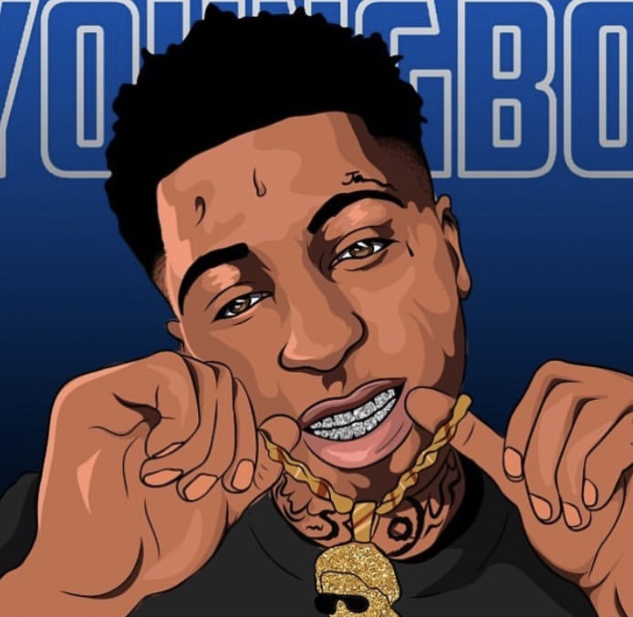 Blueface Baby Cartoon Wallpapers Top Free Blueface Baby Cartoon Backgrounds Wallpaperaccess