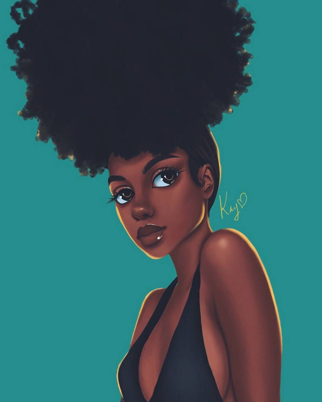 Afro Girl Wallpapers Top Free Afro Girl Backgrounds Wallpaperaccess