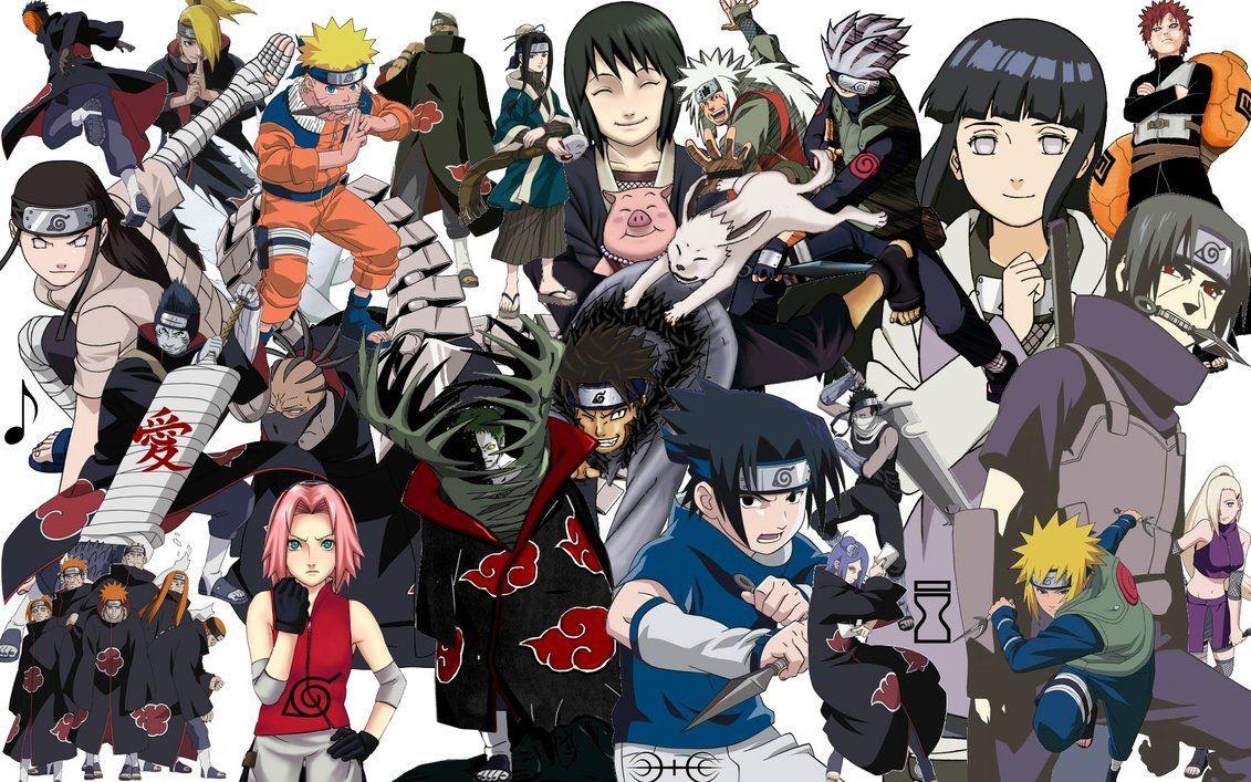 Naruto Characters Wallpapers Top Free Naruto Characters Backgrounds Wallpaperaccess