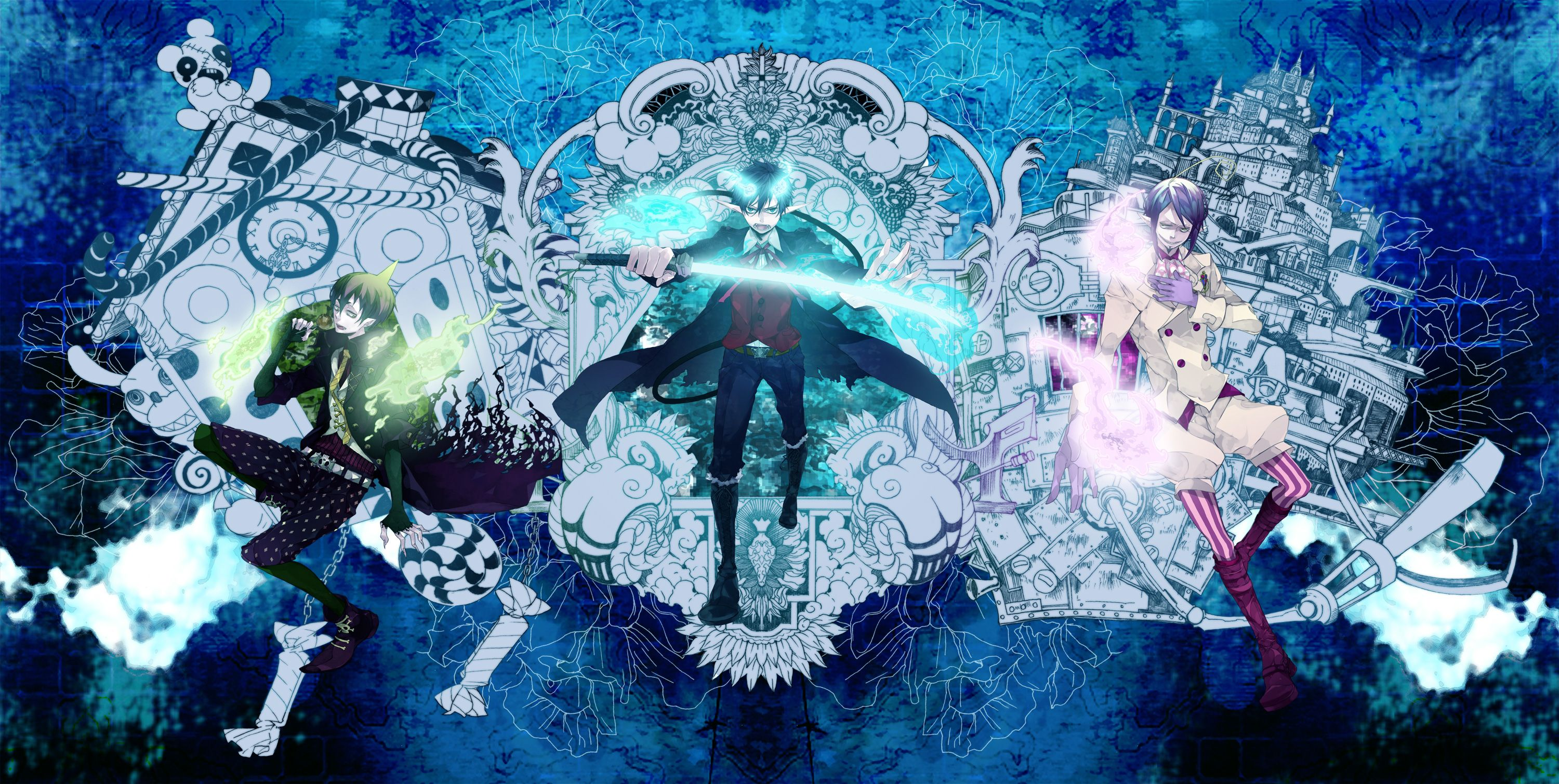 Blue Exorcist Wallpapers Top Free Blue Exorcist Backgrounds
