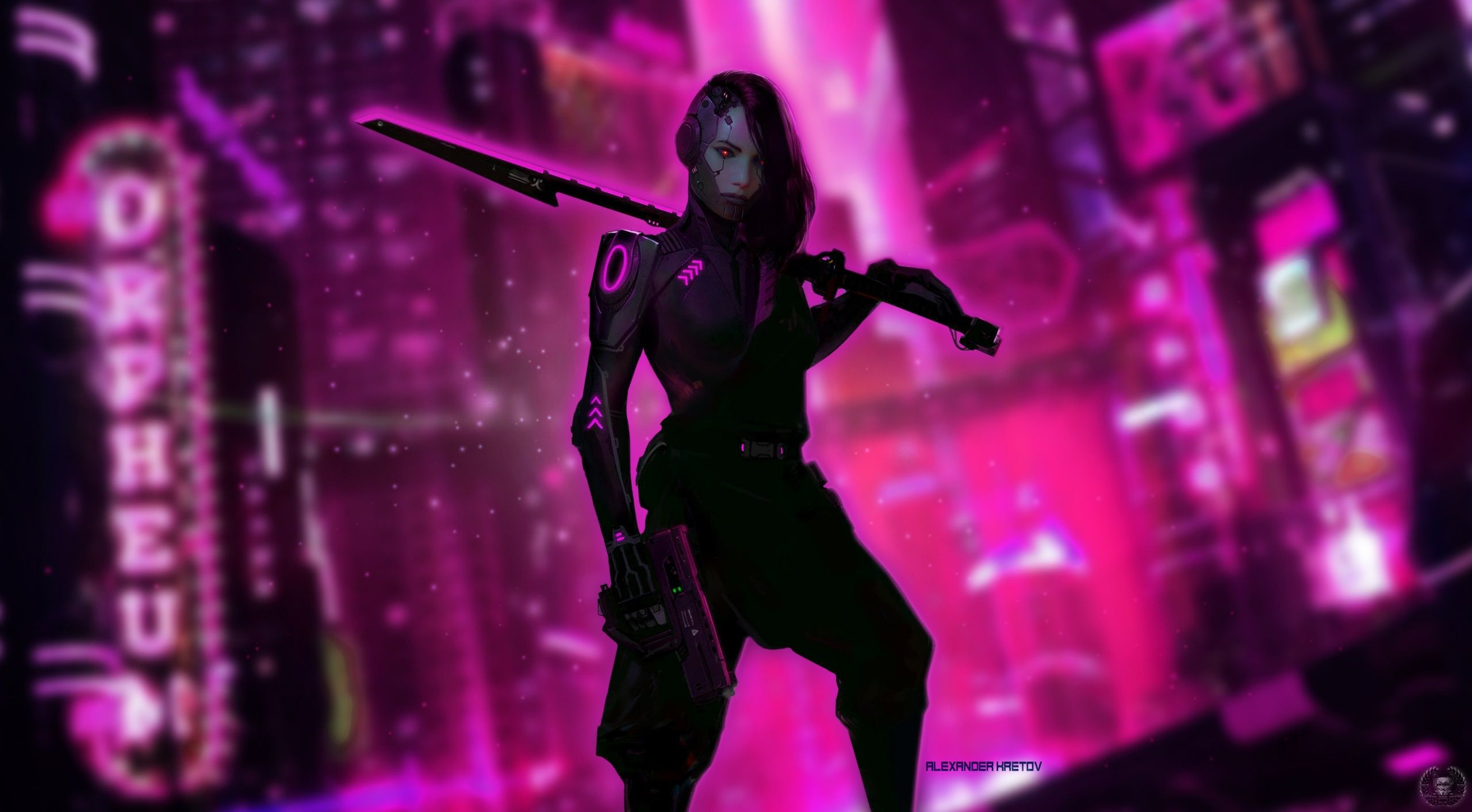 Cyberpunk Woman Wallpapers Top Free Cyberpunk Woman Backgrounds Wallpaperaccess