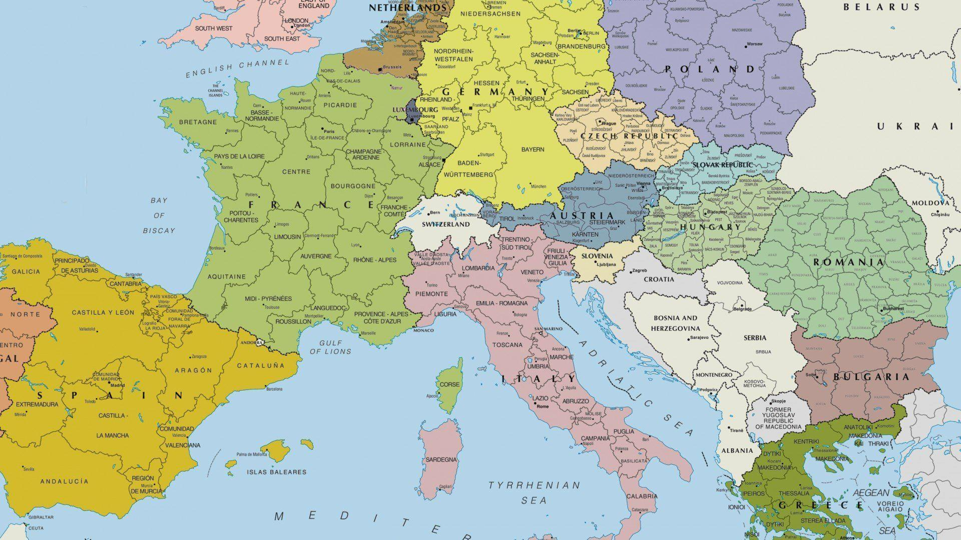 Picture of: Europe Map Wallpapers Top Free Europe Map Backgrounds Wallpaperaccess