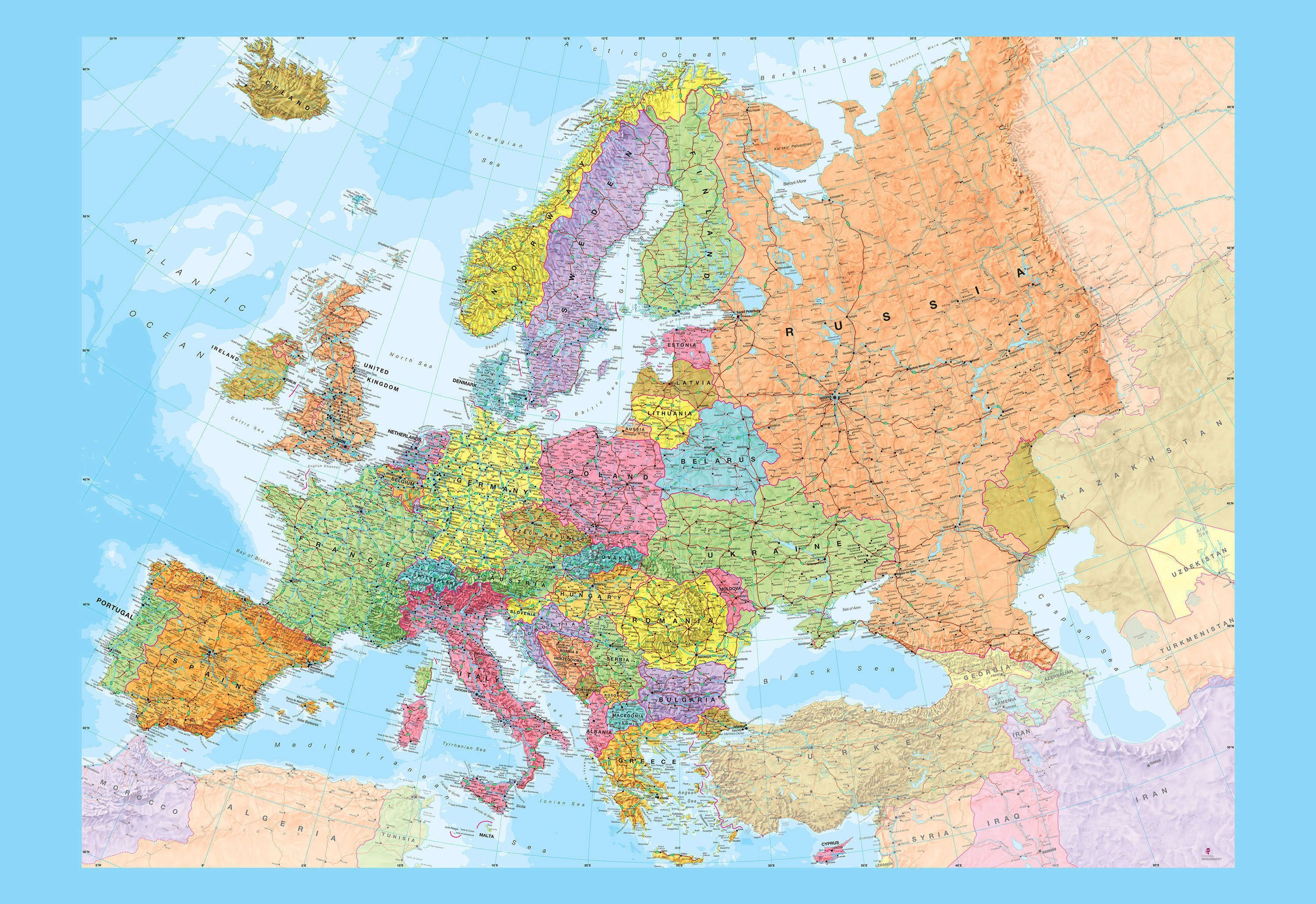 Europe Map Wallpapers Top Free Europe Map Backgrounds Wallpaperaccess