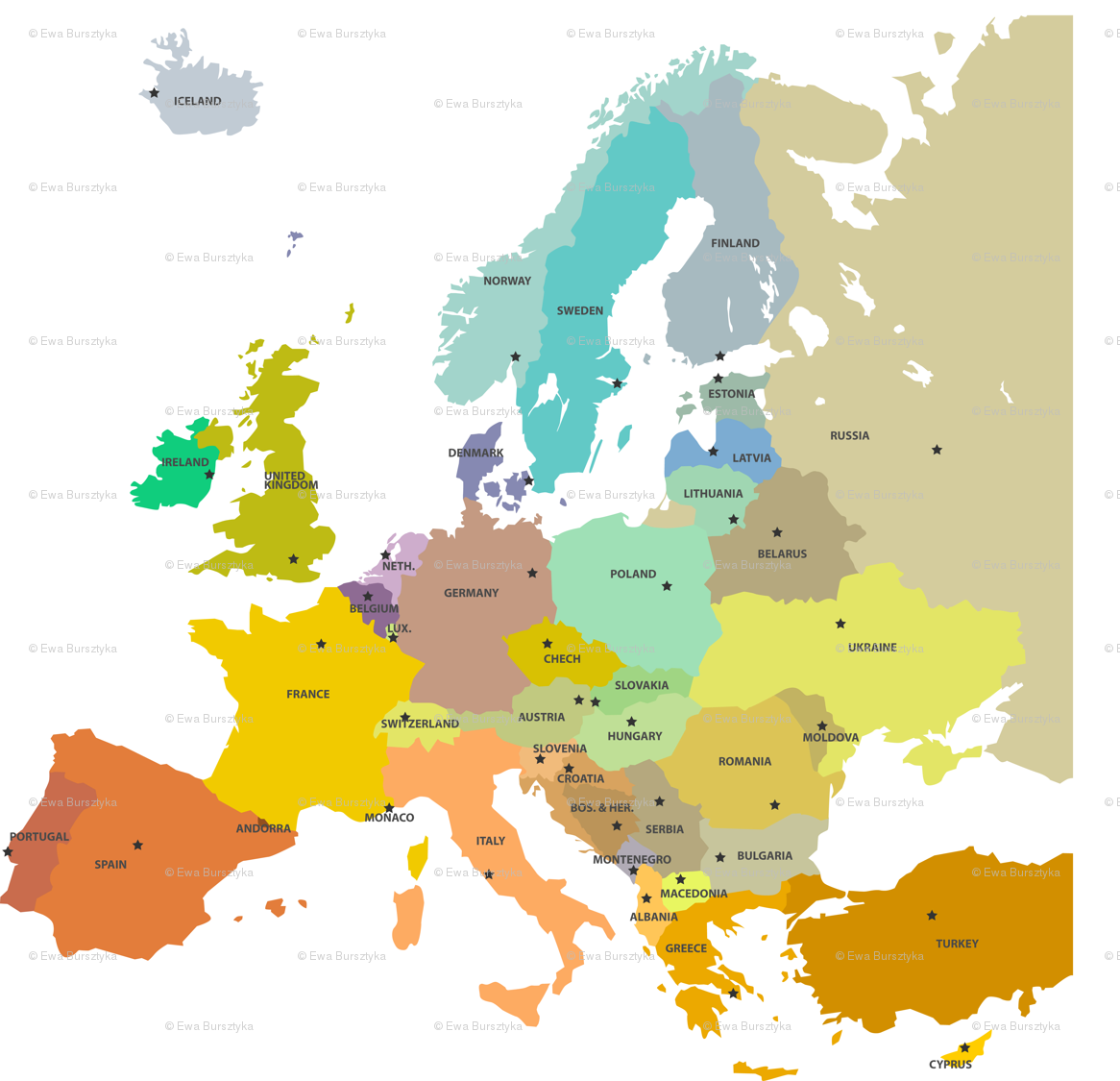 Europe Map Wallpapers - Top Free Europe Map Backgrounds ...